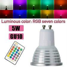 3W GU10 LED Bombillas Luz Rgb 16 Cambio De Color Lámpara Proyector Control. y T6Q9