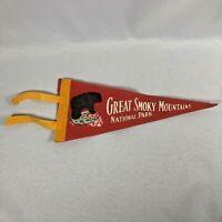 Vintage 40s-50s GREAT SMOKY MOUNTAINS NATIONAL PARK Collectible Souvenir Pennant