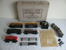 Vintage Marx Trains O-27 Scale Kansas Southern AB Diesel Freight Set #28542 EX