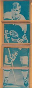 1969-70 OPC BOBBY ORR PUZZLE WITH 4 CARDS HORTON STANLEY CUP WALES DELVECHIO