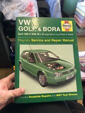 Haynes Vw Golf & Bora Manual 98-00 Petrol & Diesel Good Condition