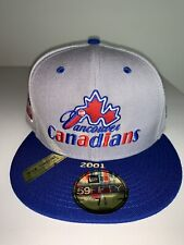 New Era MILB Vancouver Canadians 59Fifty 100th Anniversary Patch Hat 7 1/8 NWT