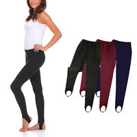 Women's Slim Warm Thick Stretchy Stirrup Style Footless Leggings Soft Nap Pants