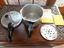 Vintage PRESTO PRESSURE COOKER w/Instructions Recipes Time Tables RACK+REGULATOR
