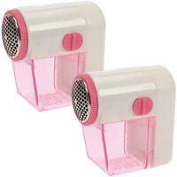 2x Fusselrasierer Fusselentferner elektrisch Auffangbehälter batteriebetrieben