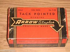 "Vintage Arrow Staples for T-32 Arrow Gun Tacker - 5040 - 5/16"" Tack Pointed -NOS"