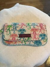Bungalow 360 Canvas Jelly Fish With Hearts Wallet VGUC WRISTLET
