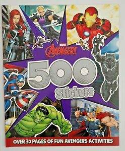 Kids/Boys Marvel Avengers 500 Stickers Colouring and sticker Activity book NEW!