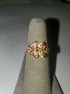 Black Hills Gold 6 Leaf Band Ring 10k Solid Gold
