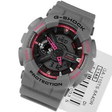 CASIO G-SHOCK MENS GREY-PINK WATCH GA-110TS-8A4 GA-110TS Imported