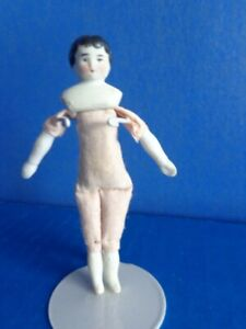 """SMALL ANTIQUE 3 1/2"""" CHINA DOLL- GERMAN- DOLLHOUSE?"""