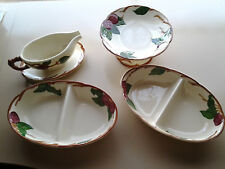 4 Piece Franciscan Ceramic - Apple - Compote, Two Divided Plates and Gravy Bowl