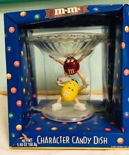 M&M CHARACTER CANDY DISH. RED & YELLOW New In Box