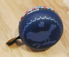 BASIL ding dong Large Big Bell blue Bird print Bicycle Bike accessories 80mm