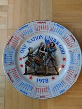 Vintage 1978 Patriotic Calendar Collector Plate By Spencer Gifts-Great Condition