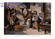 Raucher in Jerusalem XL Kunstdruck 1916 Georg Macco Zigaretten Sachverständige Z