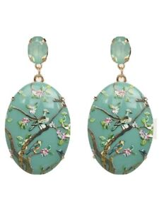 Jade Vintage Inspired Geo Drop Earrings - Contemporary Fashion Jewellery