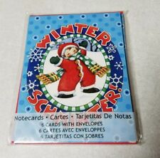 Mary & co. 6 notecards envelopes winter schminter 2012 blank engelbreit