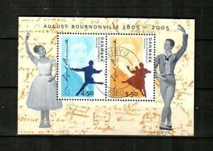 DENMARK Scott's 1328b ( S/S ) August Bournonville F/VF Used ( 2005 )