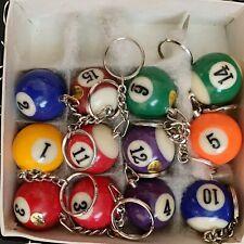 Vintage Pool Ball Keychain Charm Novelty Billiards Pool PLS READ Description NOS