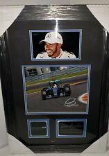 Lewis Hamilton, 6 Time World Champion, Autographed Frame w/ COA