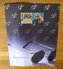 "Vintage Jerry Garcia 1996 J. Garcia Art In Eyewear 19"" x 26"" Poster"