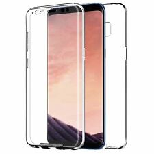For Samsung Galaxy S10 Front & Back 360° Silicone Gel Clear Dual Case Cover