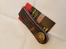 Soldier Acoustic Guitar Strap Holder BROWN Soft Leather with Brass Button