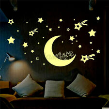 Moon Stars Glow In The Dark Wall Sticker Kids Baby Bedroom Home Ceiling   O