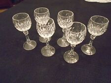 Set Of Six Cristallerie Zwiesel Crystal Stemmed Cordial Glasses