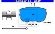 ATE Juego de pastillas freno FORD TRANSIT 13.0460-6911.2