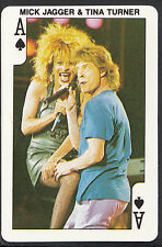 Dandy Gum Card - Rock'n Bubblegum Card - Singers - Mick Jagger & Tina Turner