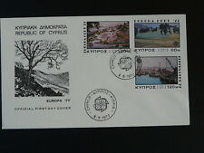 paintings Europa Cept 1977 FDC Cyprus 77731
