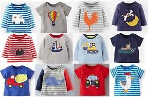 Mini Boden baby top boys cotton applique t - shirt new shirt tee applique logo