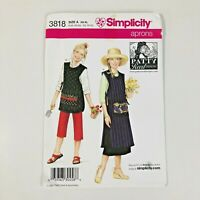 Simplicity 3818 Patty Reed Aprons Sewing Pattern Smock Size XS-XL NEW OOP Uncut