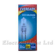 2x 16W=20W Watt EVEREADY G4 DIMMABLE ECO HALOGEN LIGHT BULBS LAMPS CAPSULES UK