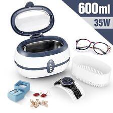 Nettoyeur à Ultrasons 600ML Automatique avec Panier pour Bijoux/Lunette/Dentier