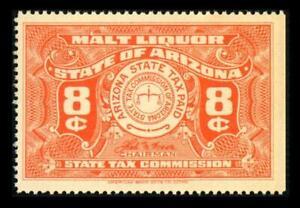 AZ B20 State Revenue ARIZONA 8c Orng BEER STAMP SERIES 1942 MLH SEE PHOTOS L-528