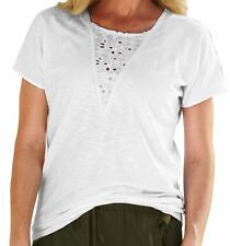 ROAMAN'S LACE FRONT TEE TSHIRT WOMAN'S PLUS SIZE 18/20 18W / 20W *NEW IN PKG!*