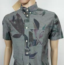 Paul Smith Mens Shirt PSJ Mainline Classic Fit Grey Floral Beach Oxford Sz M New