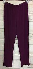 Susan Graver Essentials Lustra Knit Regular Skinny Pants Ripe Plum A7932 Size XS