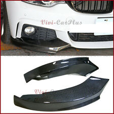 For 14UP BMW F32 F33 F36 428i 435i M-Sport Front Bumper TMS Carbon Splitter Lip