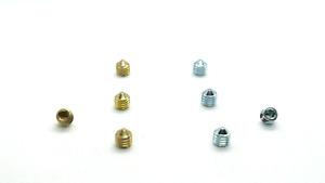Grub screws 5/ 6mm Brassed Stainless Steel A2 Chrome Door handle / knobs repairs