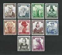 DR Nazi WWII Germany Reich Rare WW2 Stamps1935 National Womans Costumes Nothilfe