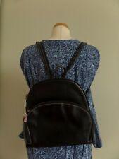 Leder Handtaschen Rucksack - schwarz