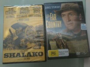 SHALAKO DVD (SEALED) CONNERY (Bond) & BARDOT + FAR COUNTRY DVD (SEALED) ,2 DVDS!
