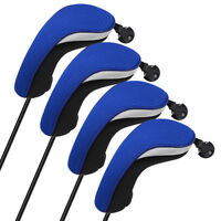 Golf Club Head Covers Headcovers Protecter Blue Wood Hybrid 4PCS/Set New US Ship