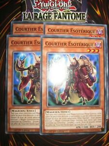 YU-GI-OH! PLAYSET (LOT DE 4) COURTIER ESOTERIQUE PHRA-FR026 EDITION 1 FRANCAIS