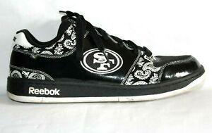Reebok NFL San Francisco 49ers Shoes, Sneakers Men's 11, Black & White, Rare