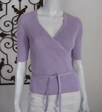 Express Short Sleeve Cardigan Wrap Sweater Size L, Lavender